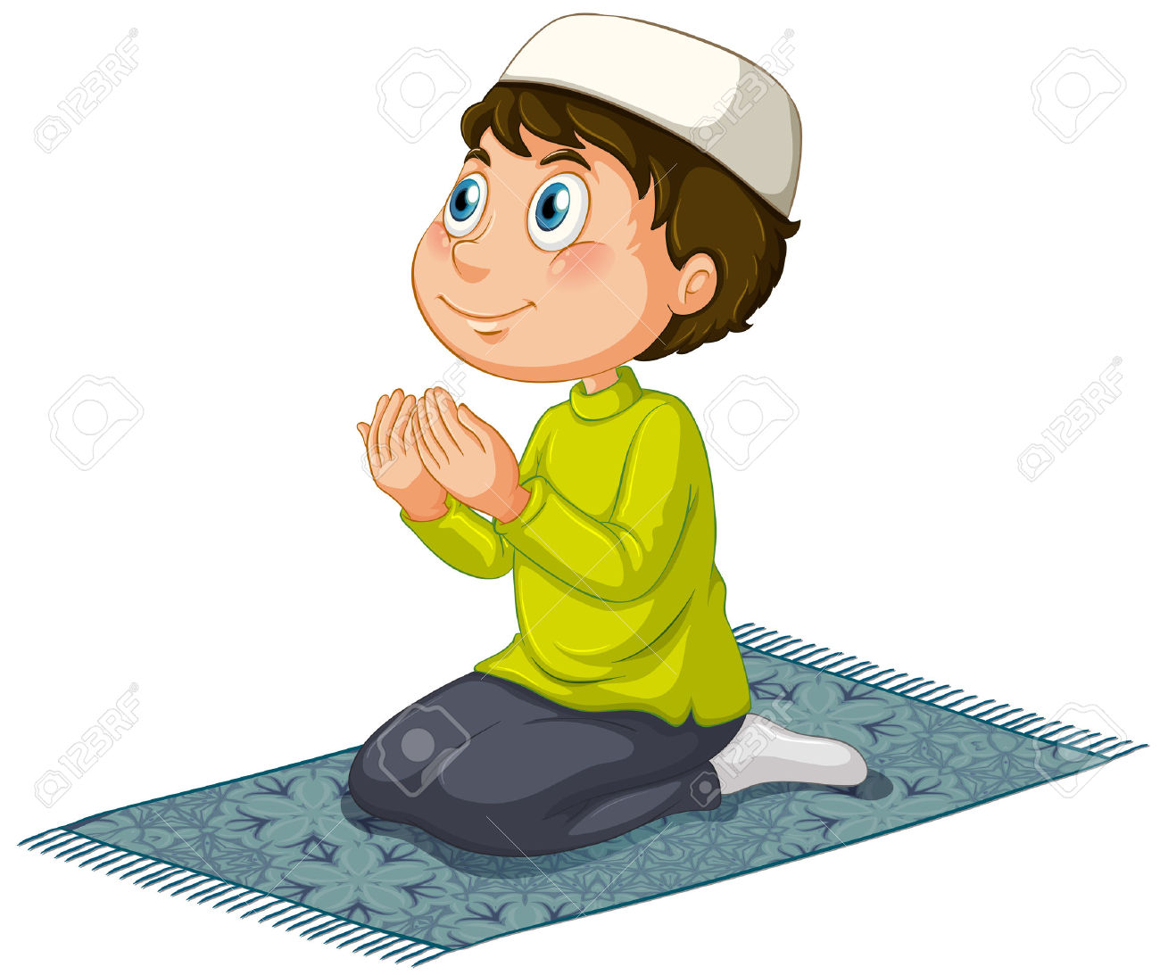 37423565 muslim praying stock vector clipart
